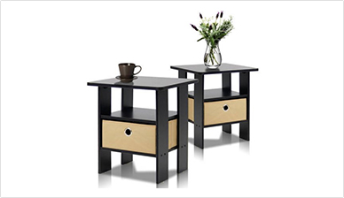 2 Furinno End Table Night Stands $38
